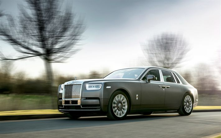 Download wallpapers 4k, Rolls-Royce Phantom, 2018 cars, road, new Phantom, Rolls-Royce