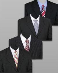 Классический чёрный похоронный костюм