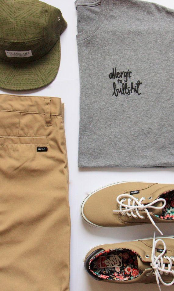 #casual #outfits #mens #tshirts #surf #skate #beach #vans #california #summer…