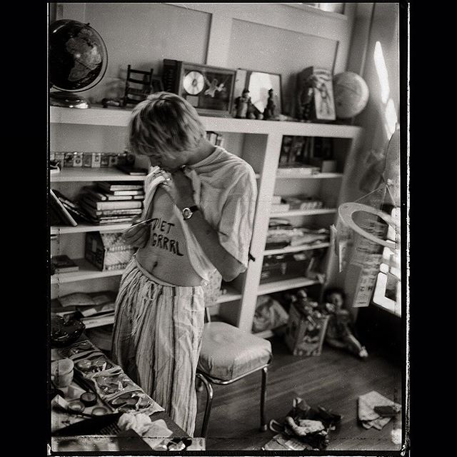 Kurt Cobain at home in Los Angeles, CA, US. 1992. Photograph by Les Guzman