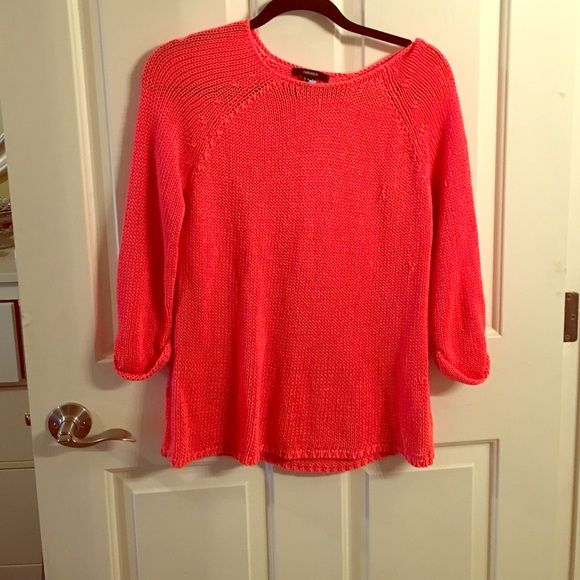 Sweater Coral lightweight sweater from forever Forever 21 Sweaters Crew & Scoop Necks