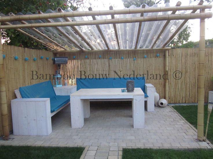 Meer dan 1000 idee n over hoek pergola op pinterest pergola 39 s hek en patio - Bamboe hek ...