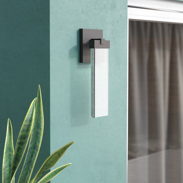 Camborne 1 Bulb Integrated Led Outdoor Armed Sconce Modern Outdoor Wall Lighting Outdoor Sconces Wall Lights