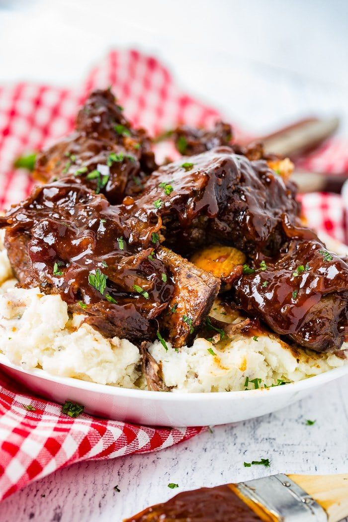 Sticky Bbq Instant Pot Short Ribs The Best Beef Ribs Oh Sweet Basil Recipe Beef Ribs Recipe Beef Short Rib Recipes Bbq Beef Short Ribs