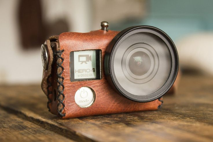 A vintage-inspired hand stitched leather case designed to carry your GoPro®. We make all of our products using hand selected premium top grain leather. Fits all Hero 3, 3+, and 4 models, including the
