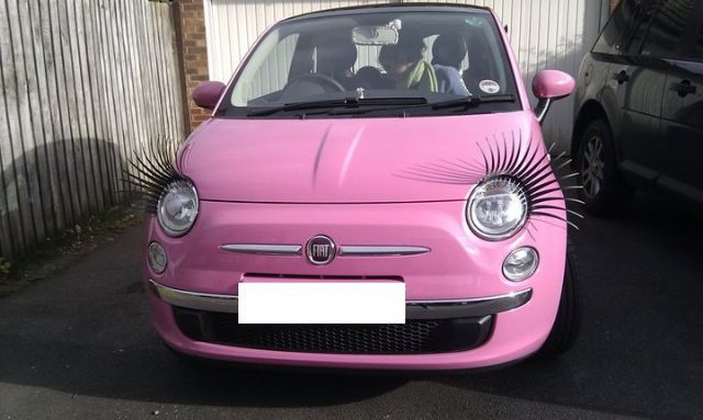 Car Eyelashes Seemed Like A Joke At The Begging Which Was Going To