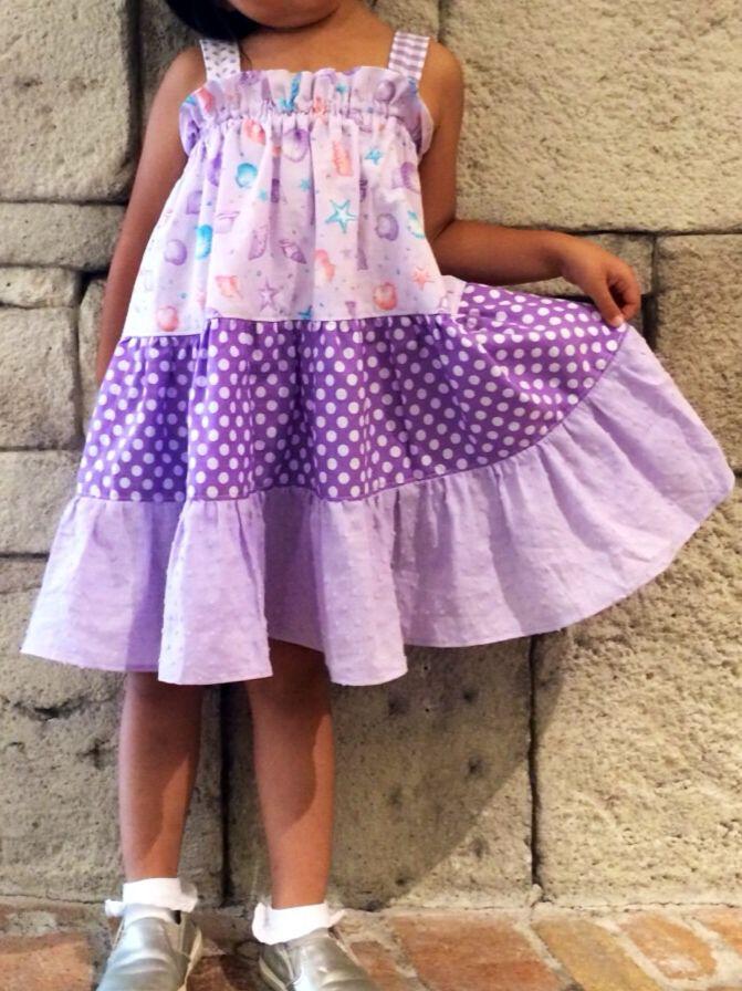 ティアード サマードレス〜大好きなムラサキグラデーションで。