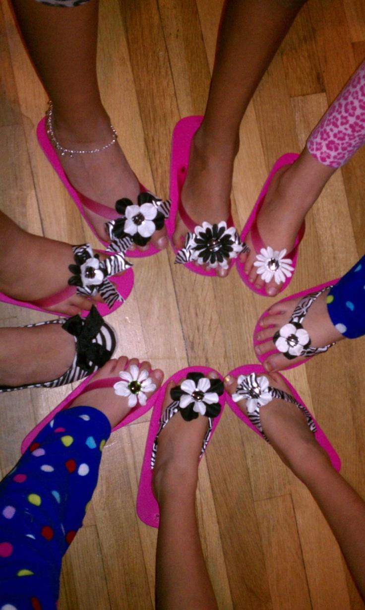Decorated Sandals!