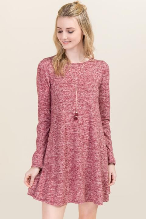 Lynelle Brushed Hacci Shift Dress
