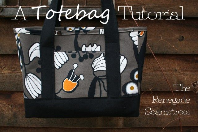PatternPile.com - Hundreds of Patterns for Making Handbags, Totes, Purses, Backpacks, Clutches, and more. | Renegade Tote Bag � Free Tutorial | http://patternpile.com/sewing-patterns