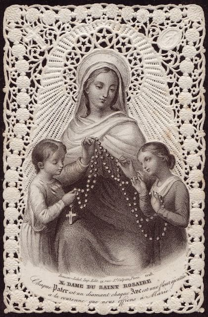 Our Lady of the Holy Rosary Each 'Our Father' is a diamond, each 'Hail Mary' a flower added to the crown we offer to Our Lady.