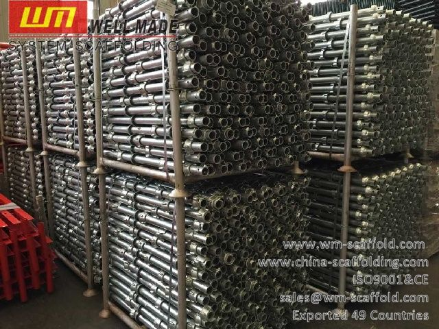 Formwork Scaffolding Materials: 1.0m Cuplock Scaffolding Standard with Forged top ...