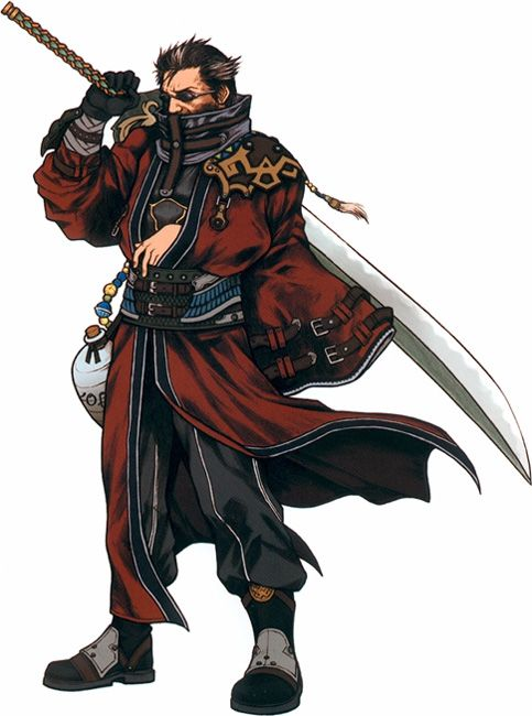 FFX Auron. My favorite besides Tidus (god I'm so predictable)