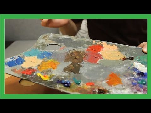 How to use a wooden palette with paints for oil painting (subtiltes). My site: www.daniil-belov.com