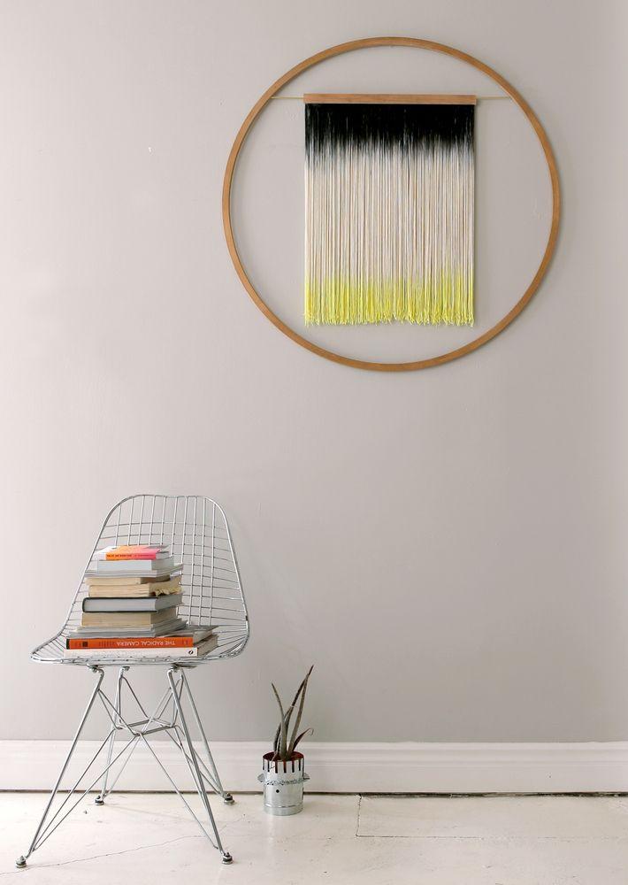 """fiber: julie thevenot """"large 60"""" wall hanging. wood, cotton, & brass. 36 inches diameter. via juliethevenot."""
