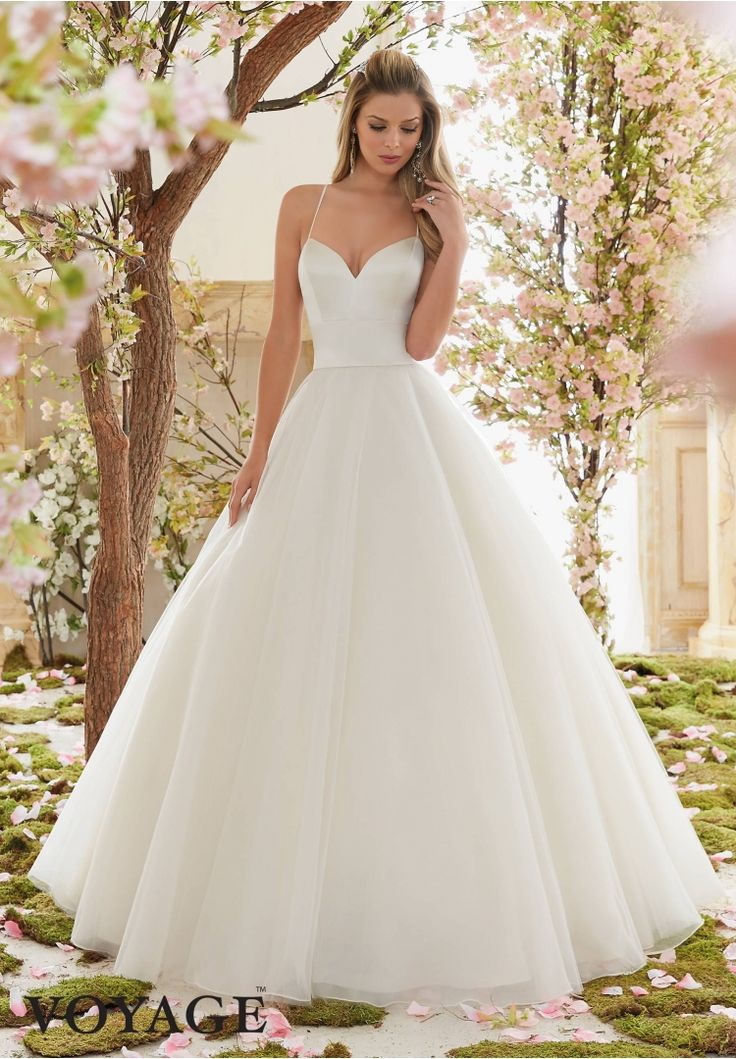 Wedding Dresses By Voyage featuring Duchess Satin and Tulle Ball Gown Colors Available: White, Ivory, Light Gold