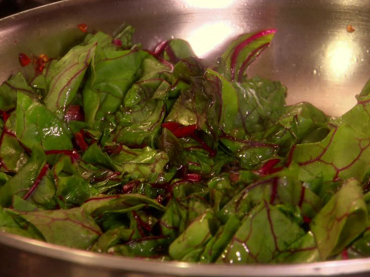 EASY Garlicky Sauteed Swiss Chard Recipe : Melissa d'Arabian : Food Network - FoodNetwork.com