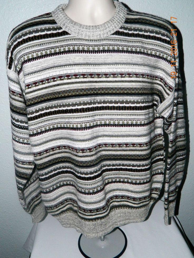 Vintage Men's Sweater - St. John's Bay Wool Blend 90s Retro Large Long Sleeve Fall Winter vjBnc8uR9