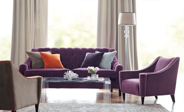 Forenza by Romo - classic cotton velvet... love the grey, orange and purple combo