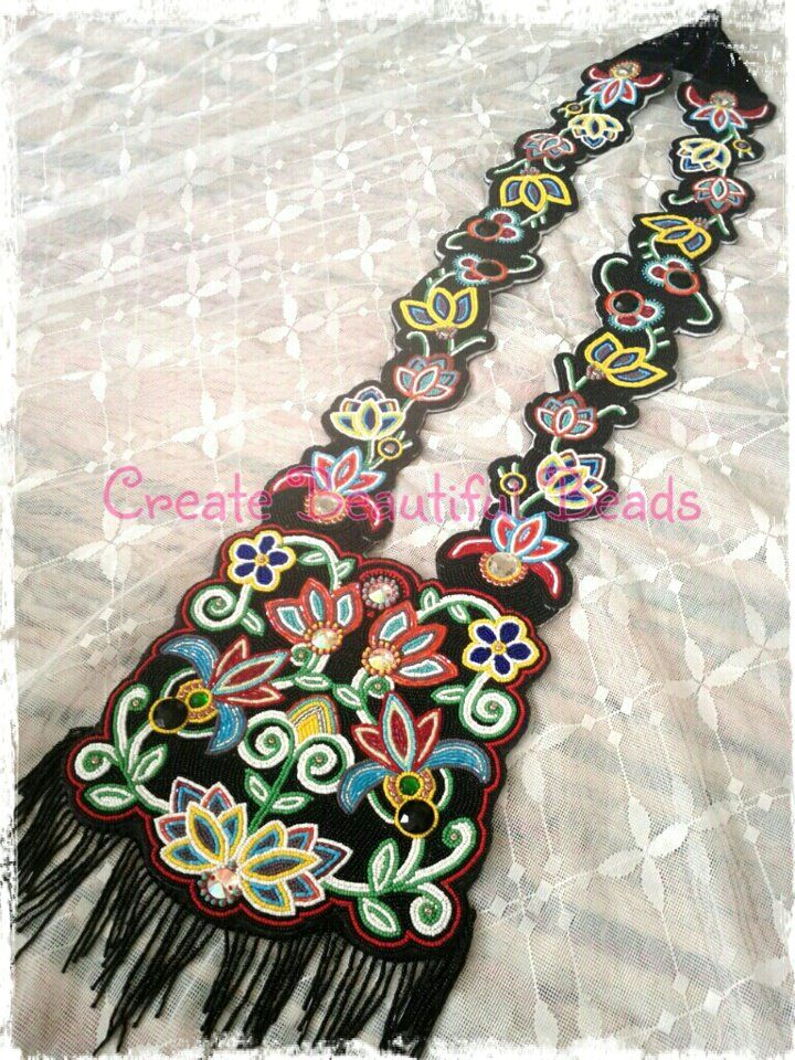 fully beaded bandolier bag by Create Beautiful Beads