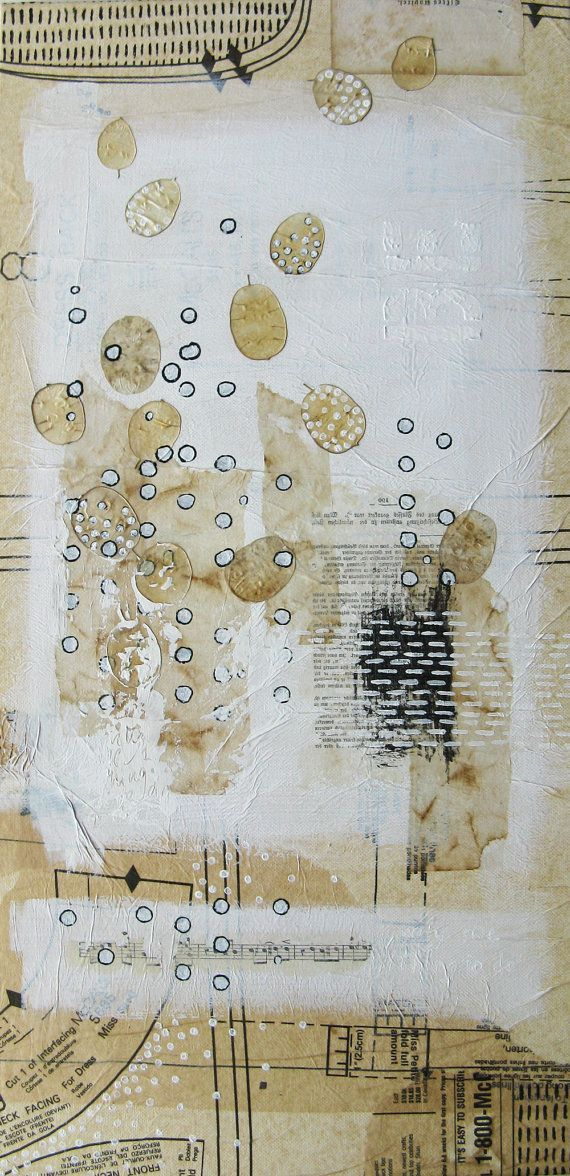 mixed media painting original  only one thing to do be by ancagray, $135.00