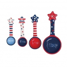 Patriotic Measuring Spoons: Boston Warehouses, Flags Flying, Wareh Flags, Spoons Sets, Measuring Spoons, Warehouses Flags, Flying Measuring, Measuring Cups, Red White