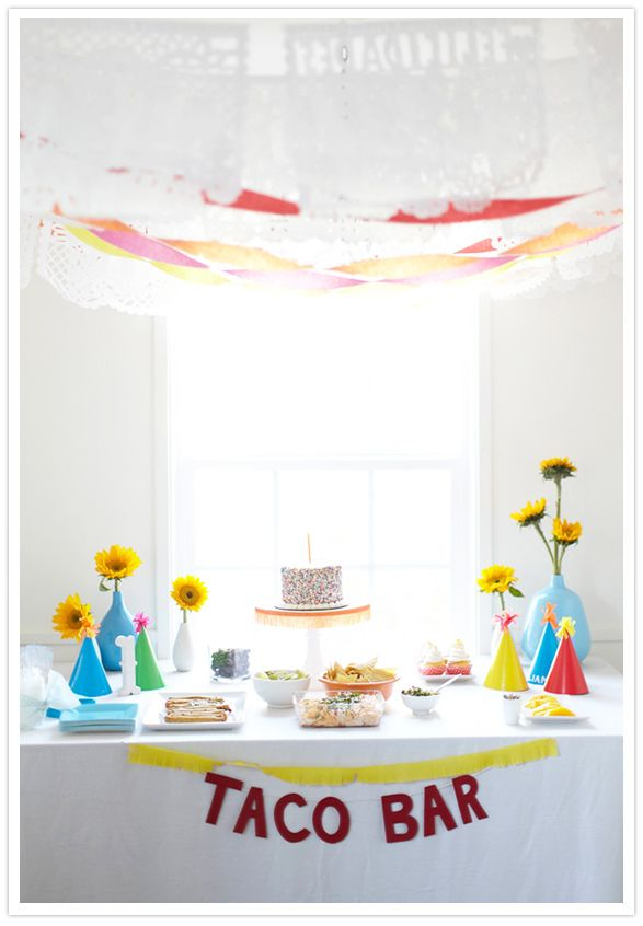 colorful first birthday party fiesta #mexican #camillestyles
