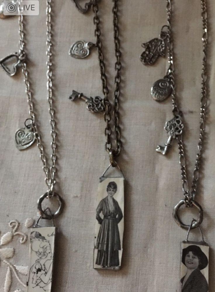 1920's image necklaces
