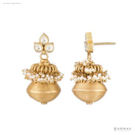 Banu Earrings (Silver) #arnav &co