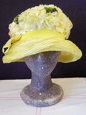 Vintage Yellow Cloche: Yellow Hats, Church Hats, Hats Personalized, Vintage Geek, Floral Hats, Vintage Hats, Vintage Yellow, Cloche Hats, Yellow Easter