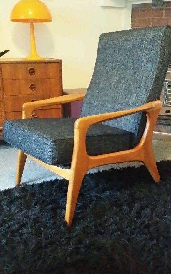Fler SC58 Retro Vintage Fred Lowen Mid Century Restored 2 of 2 armchairs. in Home & Garden   eBay