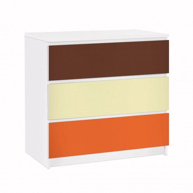 #Möbelfolie für IKEA Malm Kommode - #Klebefolie Set Herbst #mediterran #warme #Farben #Mittelmeer #terracotta #orange #südländisch #Urlaub #mediterranean #Flair