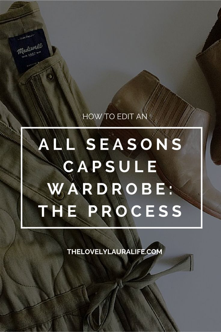 Editing An All Seasons Capsule Wardrobe / The Process (The