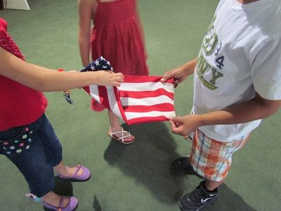 folding of the flag