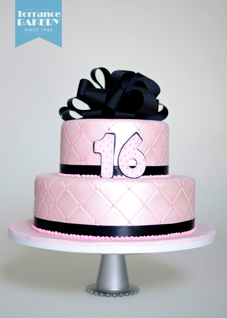 Choose quilted fondant for a classy sweet 16 cake design!