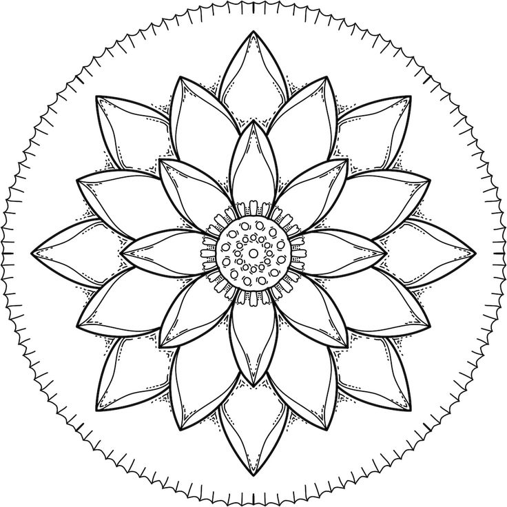 This Is Simple Time A Coloring Page For You To Print Color Mandala PagesFree PagesPrintable