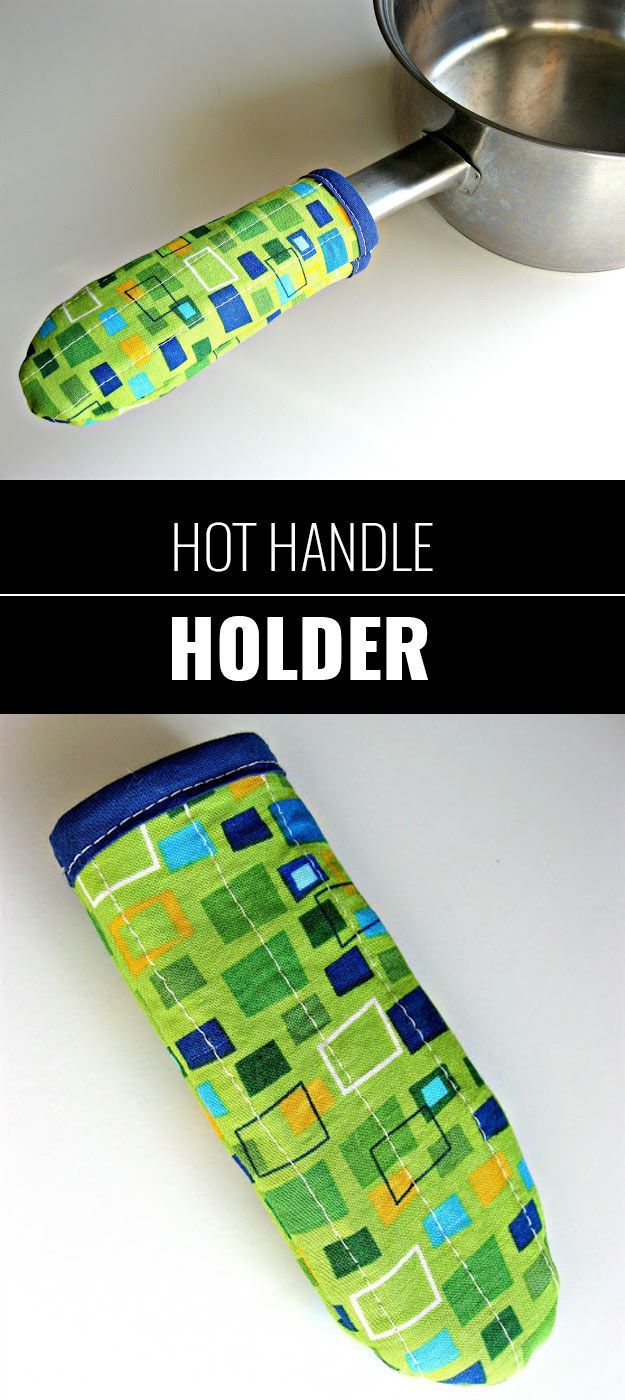 76 Crafts To Make and Sell - Easy DIY Ideas for Cheap Things To Sell on Etsy, Online and for Craft Fairs. Make Money with These Homemade Crafts for Teens, Kids, Christmas, Summer, Mother's Day Gifts. | Hot Handle Holder | diyjoy.com/crafts-to-make-and-sell