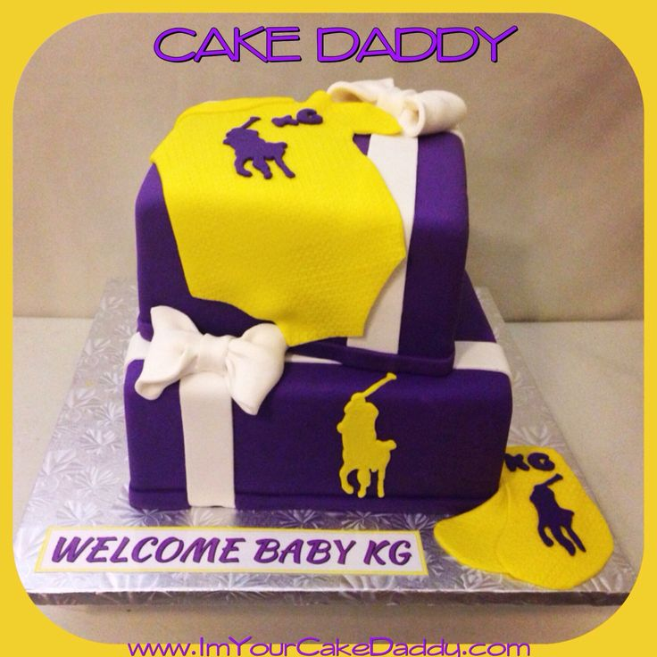 Ralph Lauren Polo Themed Baby Shower Cake.