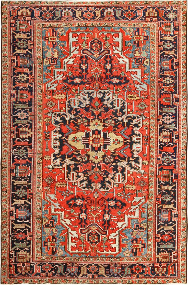 View This Beautiful Red Background Room Size Antique Persian Heriz Rug Which Is Available For At Nazmiyal In New York City