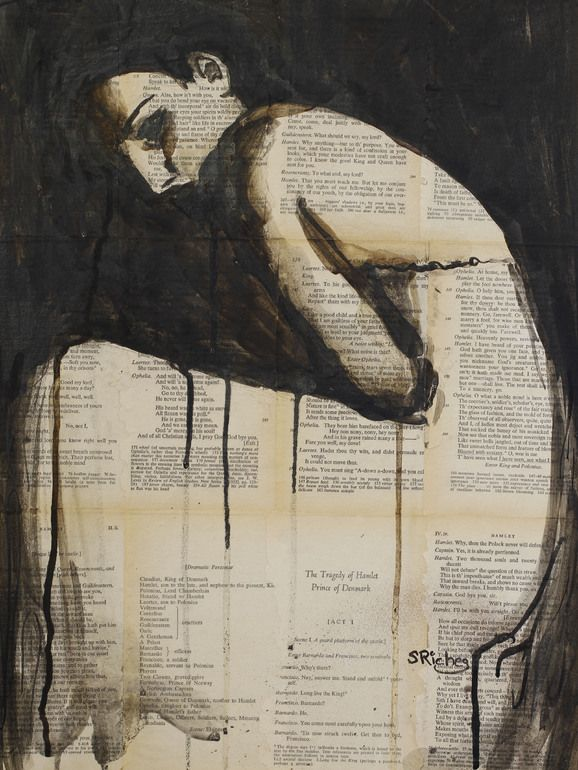 "Saatchi Online Artist: Sara Riches; Pen and Ink, 2013, Drawing ""Holding Herself Together"""