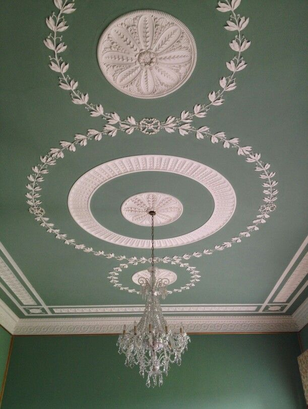 A Ceiling In A Georgian Irish Country House Plasterwork