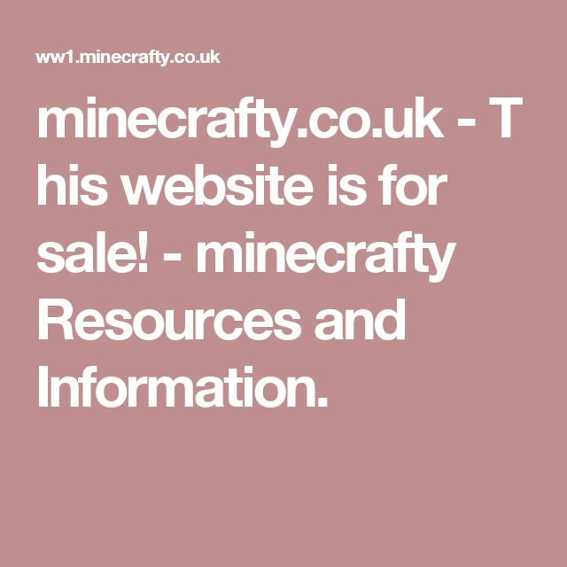 minecrafty.co.uk-This website is for sale!-minecrafty Resources and Information.