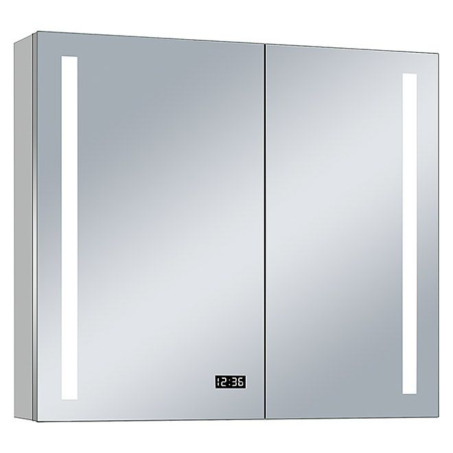 Led Spiegelschrank Aluminio Sun B X H 100 X 70 Cm Mit Beleuchtung Aluminium Spiegelschrank Spiegel Schrank
