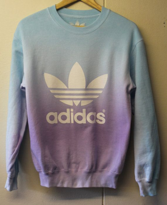 Adidas trefoil orginals customised acid wash dip dye by GarmsWorld, £20.00