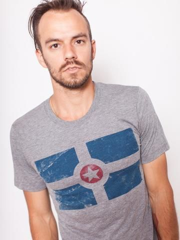 Indy Flag Tee -  from United State of Indiana  - 1