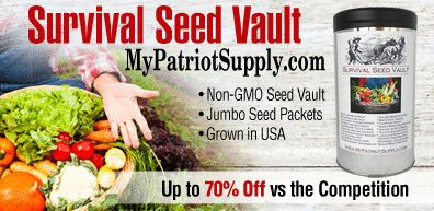 MyPatriotSupply features only the finest quality survival items, including our signature Survival Seed Vault, a wide selection of individual survival heirloom seeds, an array of home canning supplies, and the finest long term storage food currently available. http://www.leadsleap.com/go/43519