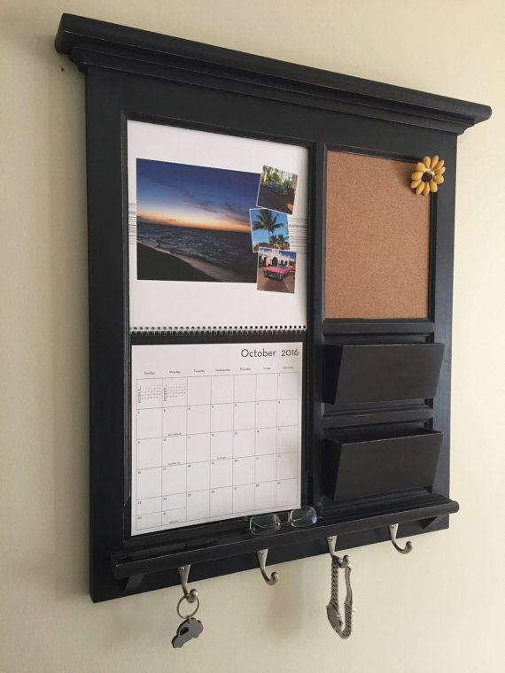 Mail Organizer Shutterfly Calendar Frame and Family Organizer Family Planner note: This wall mail storage organizer with, cork board which can be substituted with chalkboard or white dry erase board, key hooks, mail slot, calendar, and shelf is made once ordered, it is not currently stocked. See below for build times! I get requests for calendar frames for the Shutterfly calendars which measure 12 x 12 when closed or 12 x 24 when open so Ive adapted my existing frames to accommodate....here…