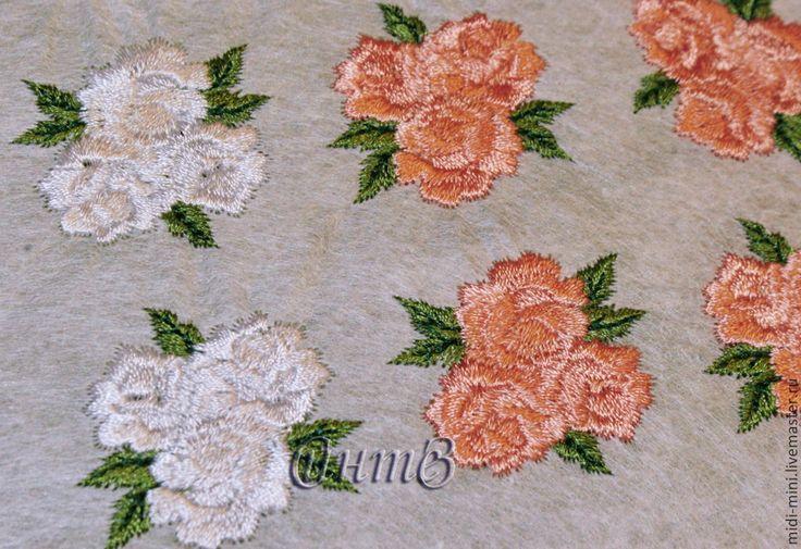 Купить вышивка, аппликация для скрапбукинга и одежды Фактурная Роза - вышивка машинная, аппликация вышитая, термоаппликация