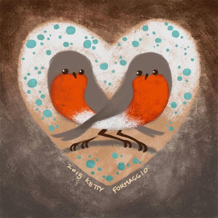 Ketty Formaggio : Robin love pettirosso innamorati