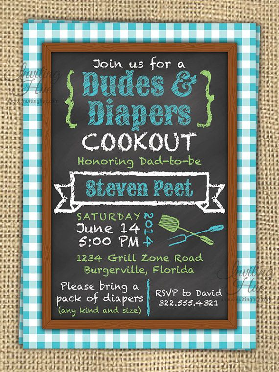 Dudes & Diapers Baby Shower Birthday/Party by InvitingHue on Etsy, $15.00